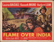 Flame Over India Original 1960 Movie Poster Lauren Bacall/kenneth More