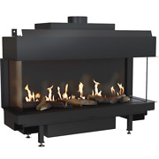 Gas Fireplace Leo100 Left Right Natural Gas High Quality 2 Yw Producer Kratki