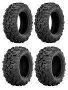 New Complete Set Of Sedona Mud Rebel R/t Tires - 1999-2002 Can-am Traxter 500