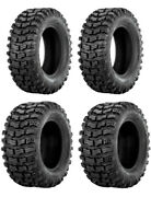 New Complete Set Of Sedona Buzz Saw R/t Tires - 2002-2004 Can-am Quest 500
