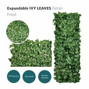 Nearly Natural Podocarpus Expandable Fence Artificial Ivy Leaves W/wooden Frame