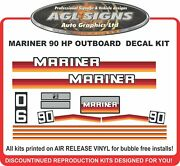 Late 80and039s Mariner 90 Hp Reproduction Outboard Decals 100 Hp Also