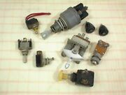 Vintage Ignition Fan Starter Toggle Switch Key Lot Of 7 Ford Chevrolet Gm Misc.