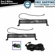 Light Bar Pair 24 Inch 120w 40 Led Work Flood Spot Suv Truck Boat 4wd Offroad