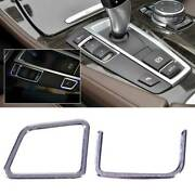 2pc At Gear Shift Left Buttons Cover Trim Pour Bmw 5 Series F18 F10 2011-2015 Rt