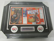 Muhammad Ali Signed Autographed Framed Matted Wheaties Cereal Box Jsa Letter
