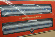 Brand New O Scale Lionel 1927360 Long Island 21 Steamlined Passenger Car 4-pack