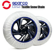 Sparco Textile Snow Tire Chains Socks Covered Roads For Tire Size 195/55r14