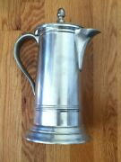 Vintage Woodbury Pewter Early American Colonial Tankard Pitcher Coffee Pot