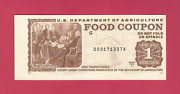 1975a 1.00 Food Stamp Coupon Full End Tab M/c G Ch Unc Unused Free Shipping Usa