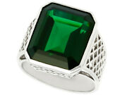 Vintage Circa 1940 10.94ct Tourmaline And 18k White Gold Gentand039s Ring