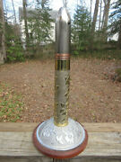 Incredible Wwii Artillery Shell Trench Art Vickers Vsm Polished And Setup For Lamp