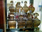 Collection Of French Antique Perfume Bottles 8-piece Perfume Set.