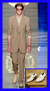 S/s 2012 Look 10 New Versace Beige Leather Loafer Shoes 44 - 11