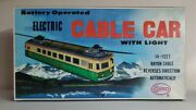 Vintage Tin Litho Cable Car Battery Op Cosmo Japan W/ Box