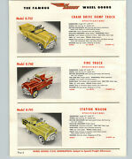1954 Paper Ad 4 Pg Murray Pedal Car Station Wagon Fire Truck Chief Auto Dump