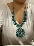 Vintage Navajo Turquoise Sterling Silver Necklace