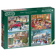Falcon 11269 Victor Mclindon Family Time At Christmas 4x1000 Teile Puzzle