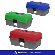 Nisus Small Fishing Two Trays Tackle Box Plastic Freshwater Saltwater Tackle