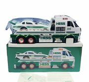 Hess Toy Truck Car Collectible Nib Box Diecast Dragster Semi Tractor Trailer Set