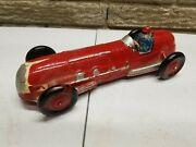 Vintage Auburn Rubber Red Toy Indy Race Car Made In Usa 7andnbsp 10