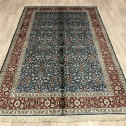 Yilong 5and039x8and039 Floral Handmade Silk Area Rugs Geometric Hand Knotted Carpets 013b
