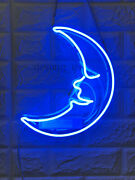 Blue Moon Neon Sign Lamp Light With Dimmer Acrylic Beer Bar