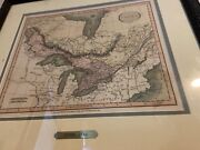 Antique Map Of Canada By Cary 1816 Framed
