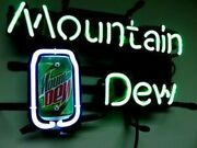 Mountain Dew Soda Neon Sign Lamp Light Beer Bar With Dimmer