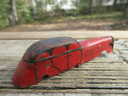 Antique Lindstrom Tin Toy Windup Car Body Only Art Deco 1920and039s 4 Red