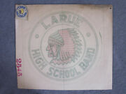 1940and039s Marion Ohio Larue Indians High School Patch And Original Artwork