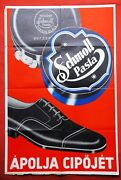 Schmoll Pasta Shoes Polish 1930and039 Vintage Hungarian Advertising Poster Germany