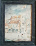 Jae Stewart Signed 1909 Watercolor Painting Curacao Curasao W Newspaper Article