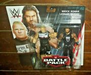 Wwe Battle Pack Brock Lesnar And Roman Reigns 6.5 Action Figures Series 52