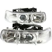 Headlight Lamp Left-and-right For Chevy Suburban Lh And Rh Silverado 1500 Tahoe Hd