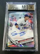 Cody Bellinger 2017 Topps Chrome Refractor Auto Jersey 35/499 Rookie Bgs 9.5 10