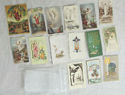 14 Easter Themed Holy Cards Vintage Unmarked Very Fine 1974 Pope Paul Blessing