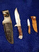 2 Hunting Knives And Cases Set Free Shipping