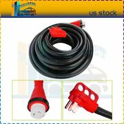 50amp 50ft Rv Power Cord Power 50 Foot Supply Extension Trailer Motorhome Camper