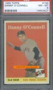1958 Topps 166 Danny O'connell Psa 8 3427
