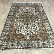 Yilong 5and039x8and039 Vintage Home Decor Classic Woven Silk Rug Hand Knotted Carpet 481c