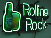 Rolling Rock Energy Drink 17x14 Neon Sign Lamp Light Beer Bar With Dimmer