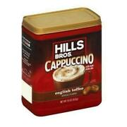 Hills Bros Cappuccino English Toffee Instant Coffee Mix 454g