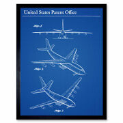 Holthy Boeing Airplane Aeroplane Jet 1965 Patent Wall Art Print Framed 12x16