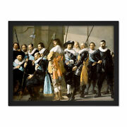 Frans Hals Militia District Xi The Meagre Company Framed Wall Art Print 18x24 In