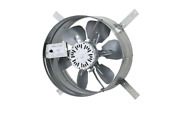 14 In. Single Speed Gable Mount Attic Ventilator Fan With Adjustable Thermo