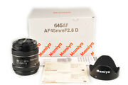 New Mamiya Sekor D Af 45mm F/2.8d Lens For Phase One Xf Df W/box