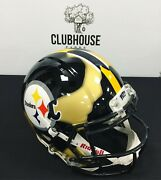 Ripped Authentic Helmet Hand Painted Pitt Panthers Pittsburgh Steelers