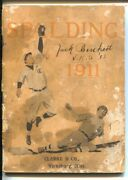 Spalding Baseball And Sports Equipment Catalog-original 1911-prices And Info-fr