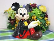 Disney Mickey Mouse Animated Musical Reader Music Box When You Wish Upon A Star